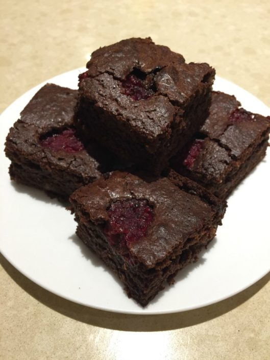 chocolate raspberry brownies recipe